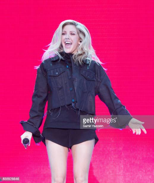 Ellie Goulding performs live on stage during V Festival 2017 at Hylands Park on August 20 2017 in Chelmsford England