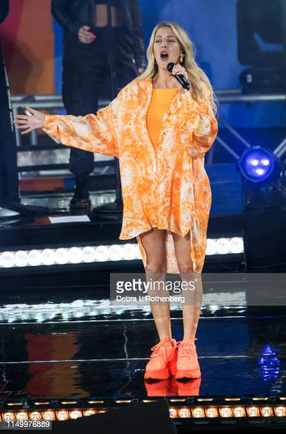 Ellie Goulding performs on ABC's Good Morning America at SummerStage at Rumsey Playfield in Central Park on June 14 2019 in New York City
