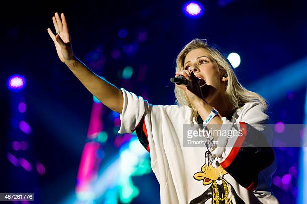 Ellie Goulding performs on day 3 of the Bumbershoot Festival at Seattle Center on September 7 2015 in Seattle Washington