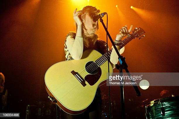 Ellie Goulding performs on stage at O2 Academy on October 28, 2010 in Newcastle upon Tyne, England.