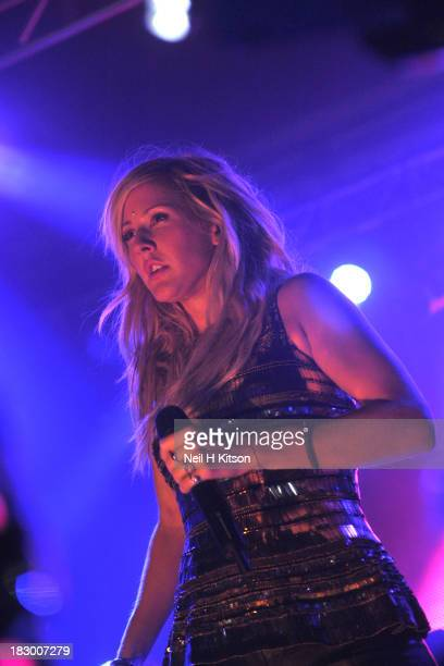 Ellie Goulding performs on stage at O2 Academy on October 3, 2013 in Sheffield, England.