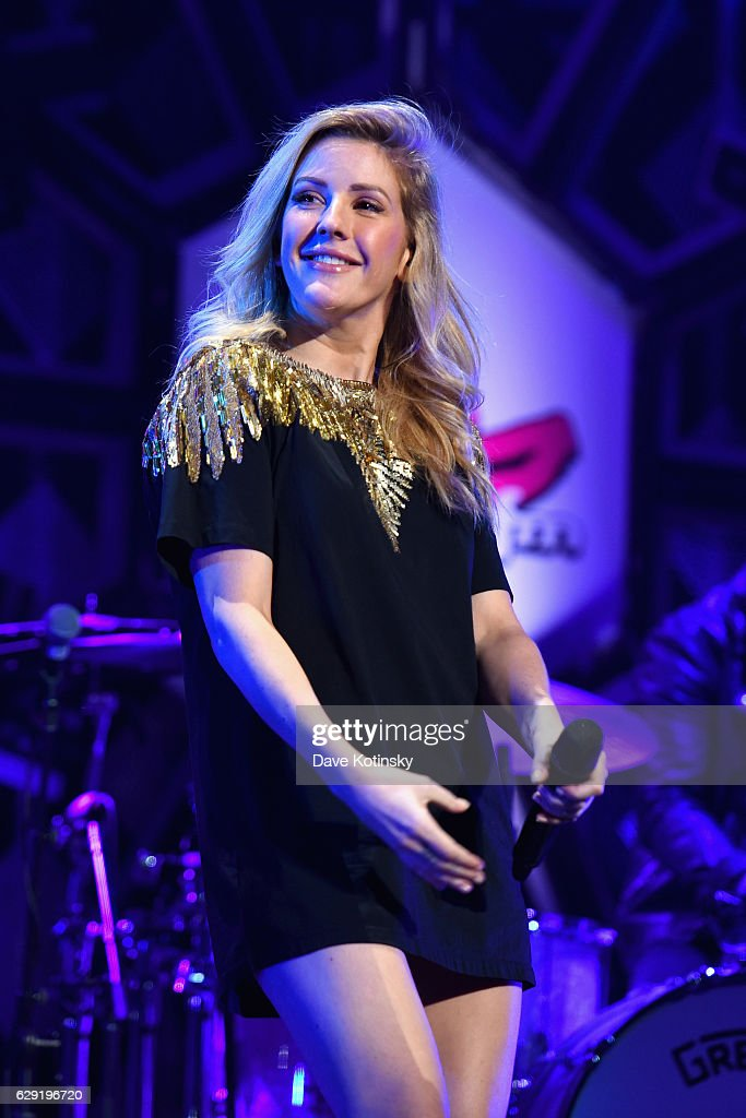 Ellie Goulding performs on stage during KISS 108's Jingle Ball 2016 at TD Garden on December 11, 2016 in Boston, Massachusetts.
