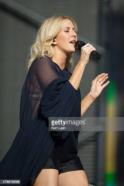 Ellie Goulding performs on the Great Oak Stage during the British Summertime Festival at Hyde Park on June 27, 2015 in London, United Kingdom