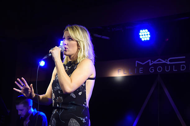 Ellie Goulding performs onstage at the M.A.C Cosmetics Ellie Goulding Art Basel Performance At The Miami