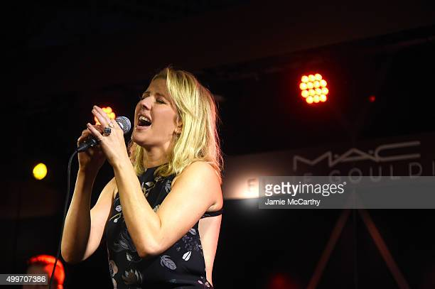 Ellie Goulding performs onstage at the MAC Cosmetics Ellie Goulding Art Basel Performance At The Miami Beach Edition on December 2 2015 in Miami...