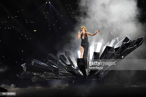Ellie Goulding performs onstage at the MTV EMA's 2015 at Mediolanum Forum on October 25 2015 in Milan Italy