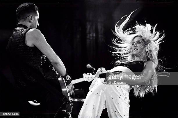 Ellie Goulding performs onstage during the Invictus Games Closing Concert at the Queen Elizabeth Olympic Park on September 14 2014 in London England