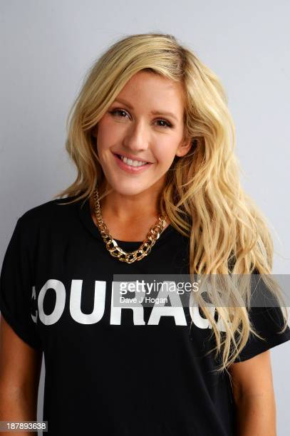 Ellie Goulding poses backstage during the 'BBC Children In Need Rocks' at Hammersmith Eventim on November 13 2013 in London England BBC Children In...