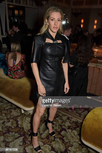 Ellie Goulding poses the Netflix BAFTA after party at Chiltern Firehouse on February 2 2020 in London England