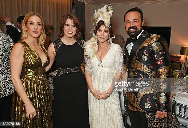 Ellie Goulding Princess Eugenie of York Anna Friel and Evgeny Lebedev attend a VIP dinner to celebrate The Animal Ball 2016 presented by Elephant...