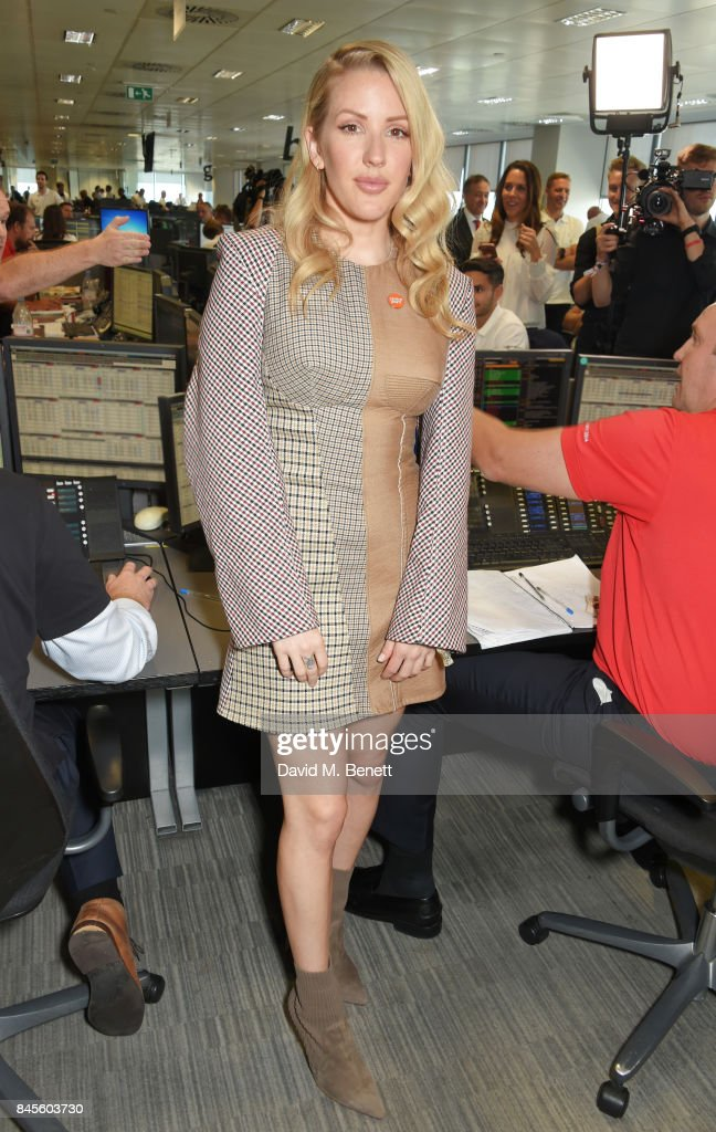 Ellie Goulding, representing Centrepoint, attends BGC Charity Day on September 11, 2017 in London, United Kingdom.