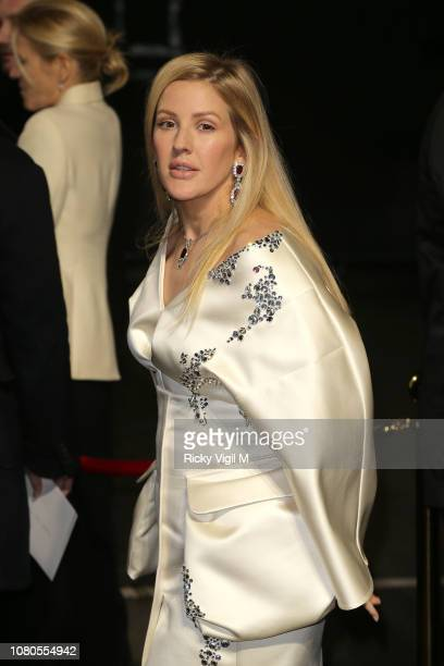 Ellie Goulding seen arriving at The Fashion Awards 2018 at the Royal Albert Hall on December 10 2018 in London England