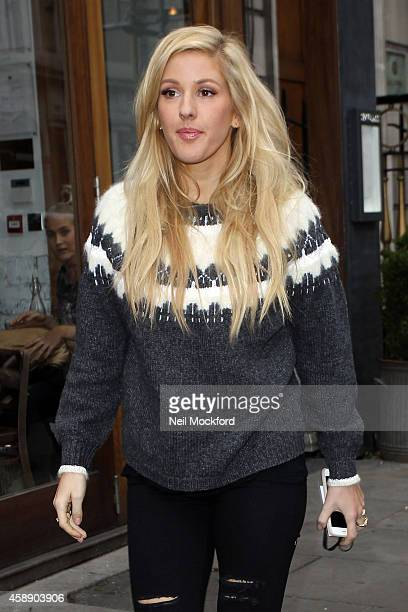 Ellie Goulding seen arriving at The London Palladium for Royal Variety Performance rehearsals on November 13 2014 in London England