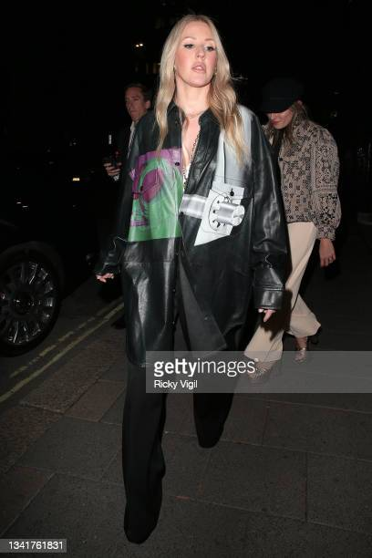 Ellie Goulding seen attending the BFC Changemakers Prize in partnership with Swarovski at Annabel's during London Fashion Week September 2021 on...