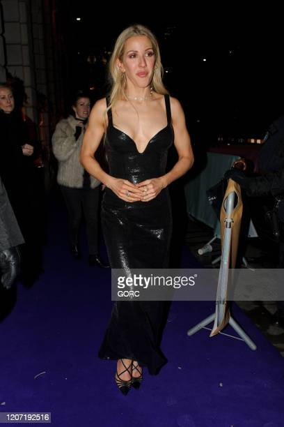 Ellie Goulding seen attending the BRIT Awards 2020 Universal afterparty at the Ned hotel on February 18 2020 in London England