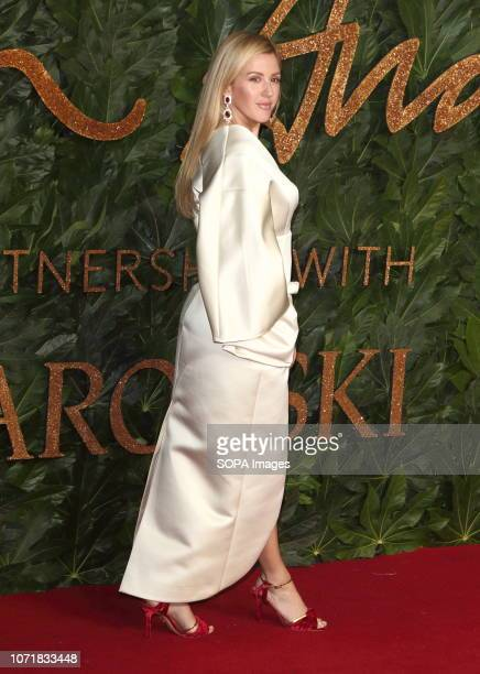 Ellie Goulding seen on the red carpet during the Fashion Awards 2018 at the Royal Albert Hall Kensington in London