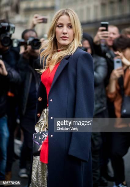 Ellie Goulding seen outside Stella McCartney during Paris Fashion Week Spring/Summer 2018 on October 2 2017 in Paris France
