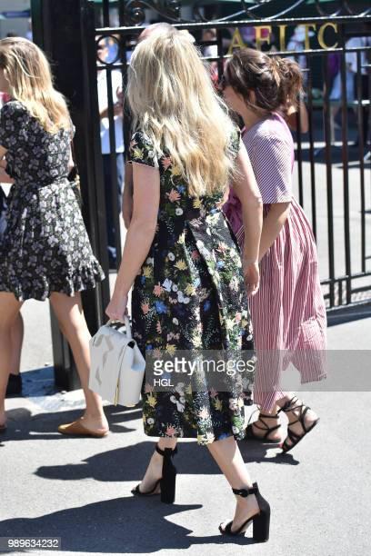Ellie Goulding seen outside Wimbledon AELTC on July 2 2018 in London England