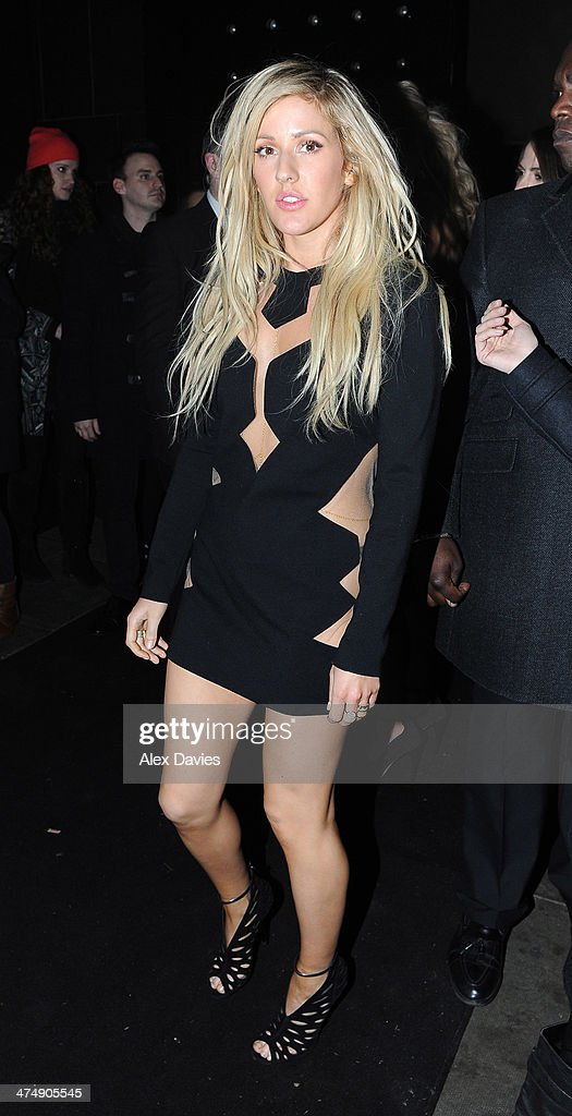 Ellie Goulding sighting during the BRIT awards on February 19, 2014 in London, England.