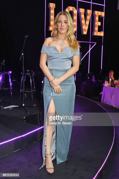 Ellie Goulding wearing Bulgari attends CLUB LOVE for the Elton John AIDS Foundation in association with BVLGARI on November 29 2017 in London England