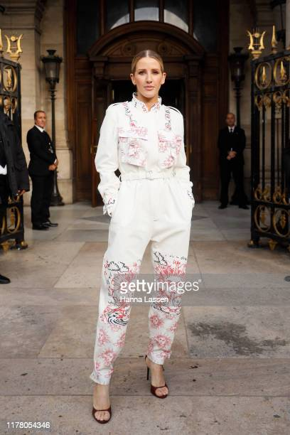 Ellie Goulding wearing Stella McCartney outside Stella McCartney during Paris Fashion Week Womenswear Spring Summer 2020 on September 30, 2019 in...