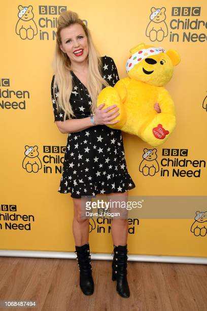 Ellie Harrison backstage at BBC Children In Need's 2018 appeal night at Elstree Studios on November 16, 2018 in Borehamwood, England.