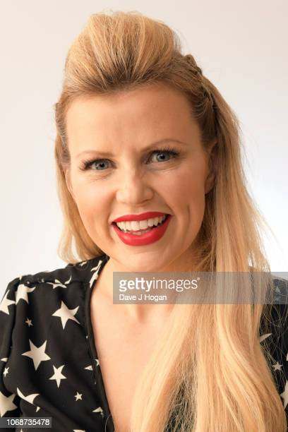 Ellie Harrison poses for a portrait backstage at BBC Children In Need's 2018 appeal night at Elstree Studios on November 16, 2018 in Borehamwood,...