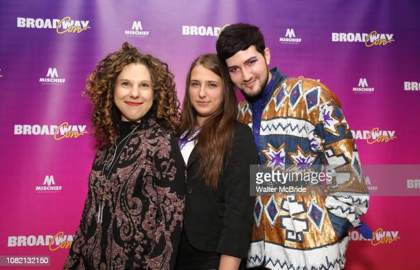 """Ellie Heyman, Leah Lane and Max Vernon attend a reception for """"An Artist's Perspective of Stage to Screen"""" during BroadwayCon at the New York Hilton..."""