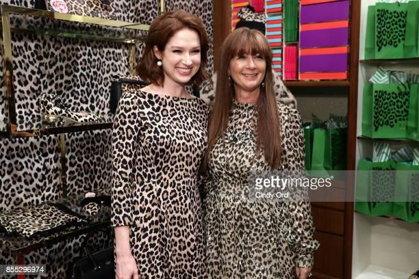 Ellie Kemper and Deborah Lloyd attend the Leopard Leopard Leopard PopUp Shop hosted by Kate Spade New York Man Repeller on September 28 2017 in New...