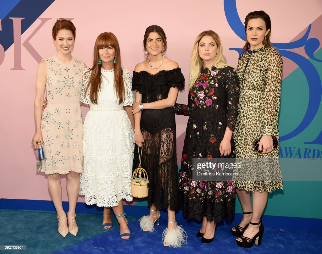Ellie Kemper, Ashley Benson, Deborah Lloyd, Leandra Medine, and Mandy Moore attend the 2017 CFDA Fashion Awards at Hammerstein Ballroom on June 5, 2017 in New York City.