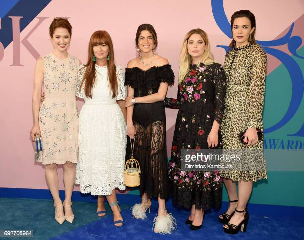 Ellie Kemper Ashley Benson Deborah Lloyd Leandra Medine and Mandy Moore attend the 2017 CFDA Fashion Awards at Hammerstein Ballroom on June 5 2017 in...