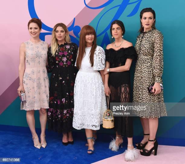 Ellie Kemper Ashley Benson Deborah Lloyd Leandra Medine and Mandy Moore attend the 2017 CFDA Fashion Awards at Hammerstein Ballroom on June 5 2017 in...