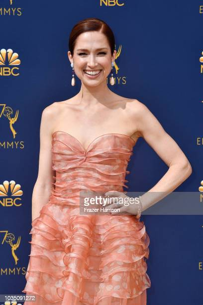 Ellie Kemper attends the 70th Emmy Awards at Microsoft Theater on September 17, 2018 in Los Angeles, California.