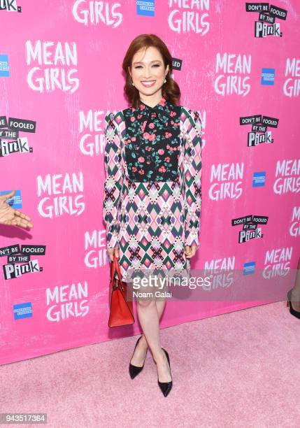 """Ellie Kemper attends the opening night of """"Mean Girls"""" on Broadway at August Wilson Theatre on April 8, 2018 in New York City."""