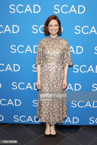 "Ellie Kemper attends the ""Unbreakable Kimmy Schmidt"" Q&A during SCAD aTVfest 2019 at SCADshow on February 7, 2019 in Atlanta, Georgia."
