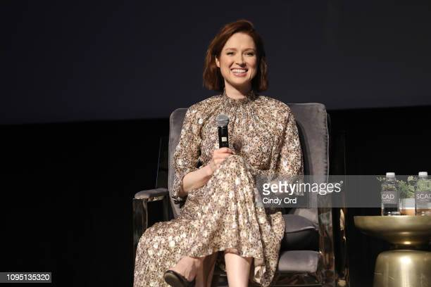 "Ellie Kemper speaks onstage the ""Unbreakable Kimmy Schmidt"" Q&A during SCAD aTVfest 2019 at SCADshow on February 7, 2019 in Atlanta, Georgia."
