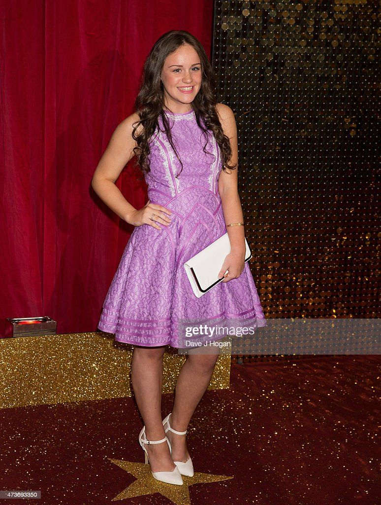 Ellie Leach attends the British Soap Awards at Manchester Palace Theatre on May 16, 2015 in Manchester, England.