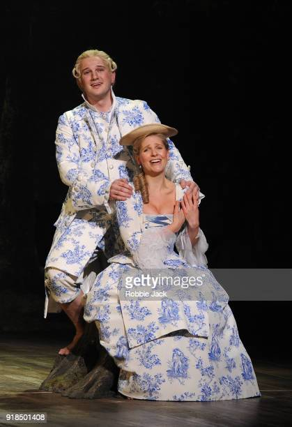 Ellie Lougharne as Phyllis and Marcus Farnsworth as Strephon in English National Opera's production of Gilbert and Sullivan's Iolanthe directed by...