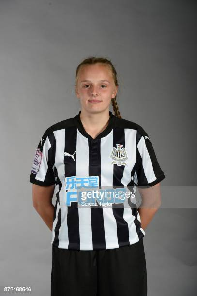 Ellie Mark poses for photos during the Newcastle United Women's Team Photocall at The Newcastle United Academy on September 26 in Newcastle upon Tyne...