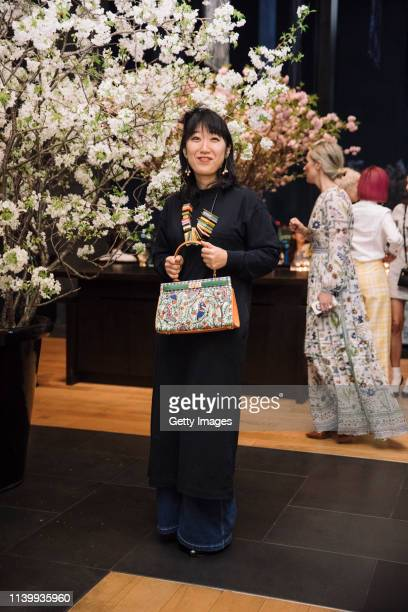 Ellie Omiya attends the Tory Burch Ginza Boutique Opening After Party on April 02 2019 in Tokyo Japan