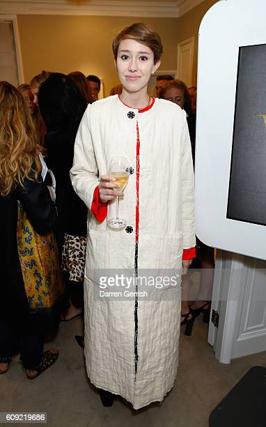 Ellie Pithers attends Vogue Voice of a Century launch at Matches Fashion on September 20, 2016 in London, England.