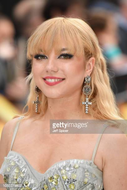 Ellie Rae attends the World Premiere of 'King Of Thieves' at Vue West End on September 12 2018 in London England