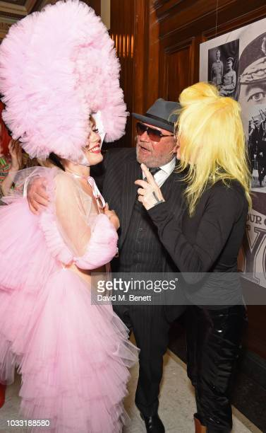 Ellie Rae Winstone Ray Winstone and Pam Hogg pose backstage at the Pam Hogg show during London Fashion Week September 2018 at The Freemason's Hall on...