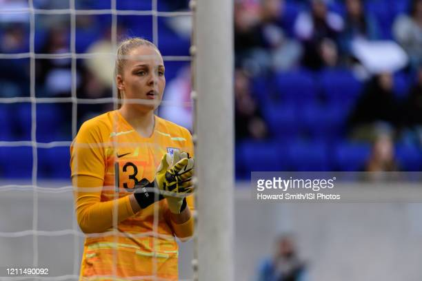 Ellie Roebuck of England during a game between England and Japan at Red Bull Arena on March 08, 2020 in Harrison, New Jersey.