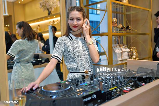 Ellie Rose attends the Tory Burch Ginza Boutique Opening on April 02 2019 in Tokyo Japan