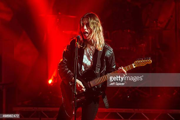 Ellie Rowsell from Wolf Alice during a live broadcast of 'TFI Friday' on November 27 2015 in London England