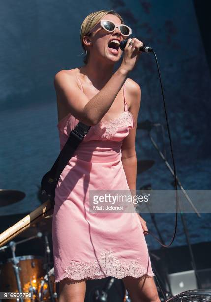 Ellie Rowsell from Wolf Alice performs on stage at St Jerome's Laneway Festival on February 11 2018 in Fremantle Australia