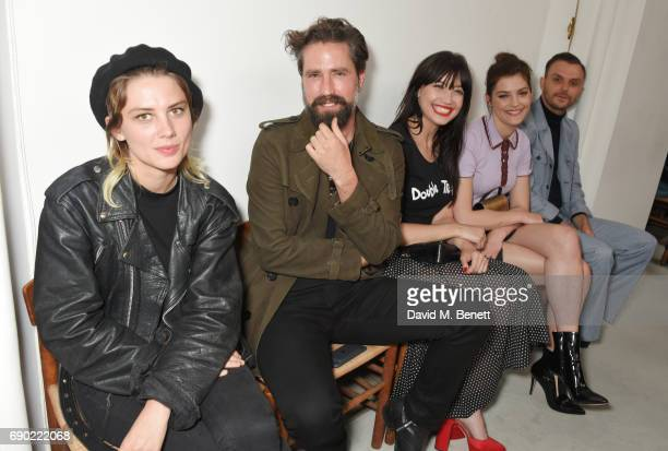 Ellie Rowsell Jack Guinness Daisy Lowe Amber Anderson and Theo Hutchcraft attend the ALEXACHUNG London Launch Summer 17 Collection Reveal at the...