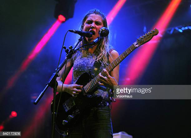 Ellie Rowsell lead singer with Wolf Alice performs on the Big Top stage at the Parklife 2016 Festival on June 11 2016 in Manchester England