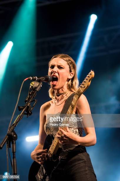 Ellie Rowsell of the band Wolf Alice performs on the Sagres Stage on day 1 of NOS Alive festival on July 12 2018 in Lisbon Portugal